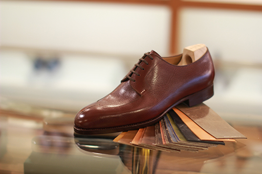 Various leather options for your shoe