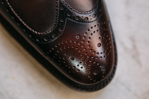Luxury is in the details with this Alex longwing derby.