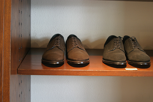 Suede shoes, made in Japan, with a Goodyear welted construction