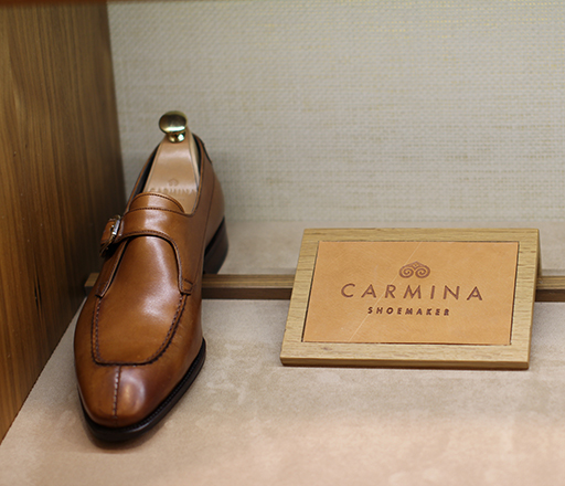 Carmina split-toe derby monkstrap