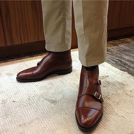 John Lobb double monk boot
