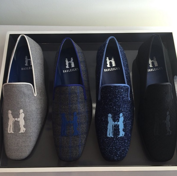 Hadleigh's slippers with their brand livery