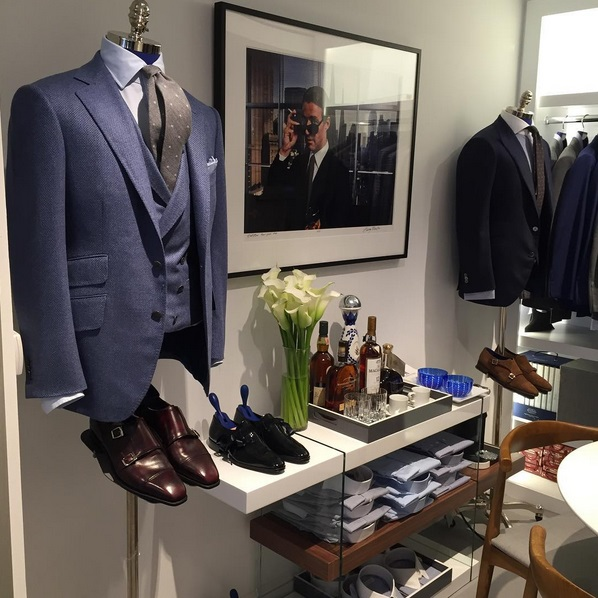 Suiting on display at the new Madison Avenue location