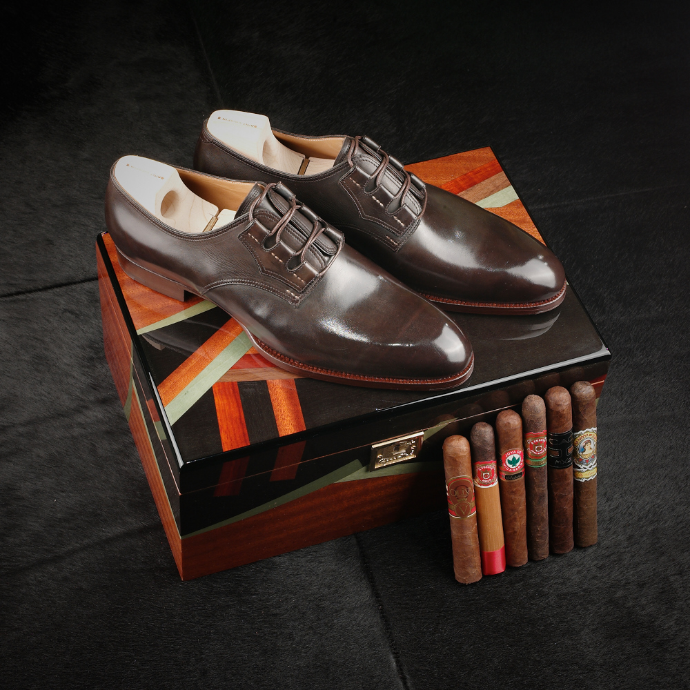 Cigars and shoes at Leatherfoot