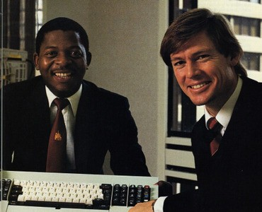 Two IBM programmers in the 1980's. Photo courtesy of www.ibm.com