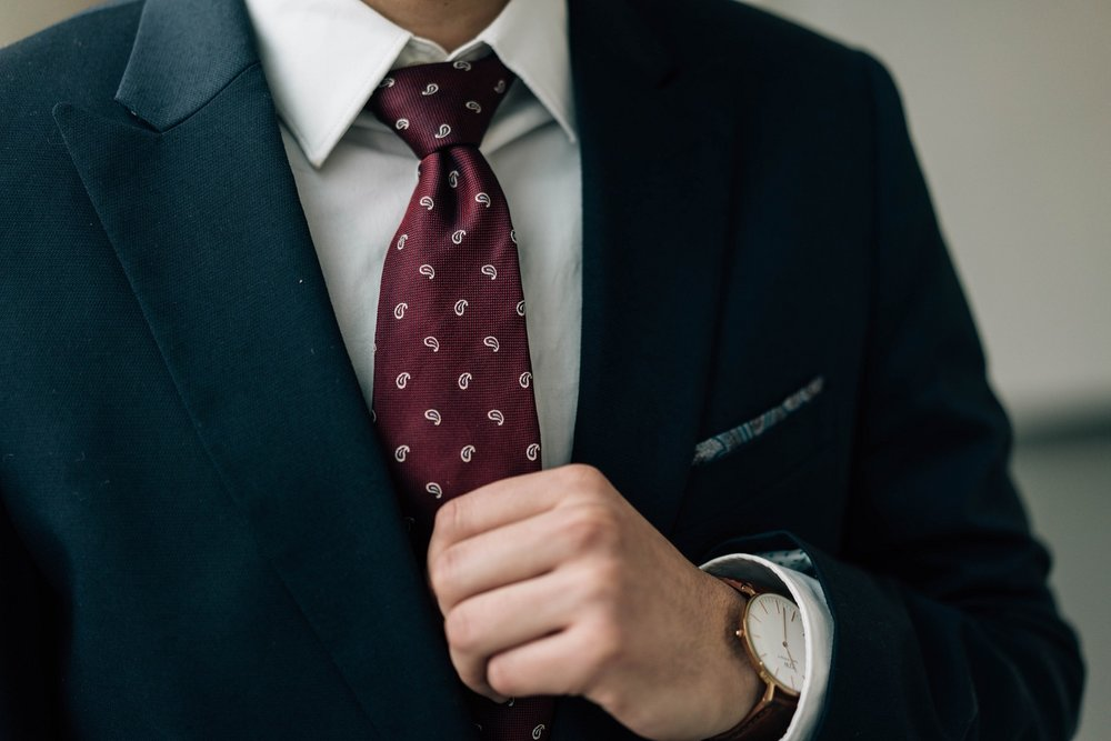 A young professional's tie