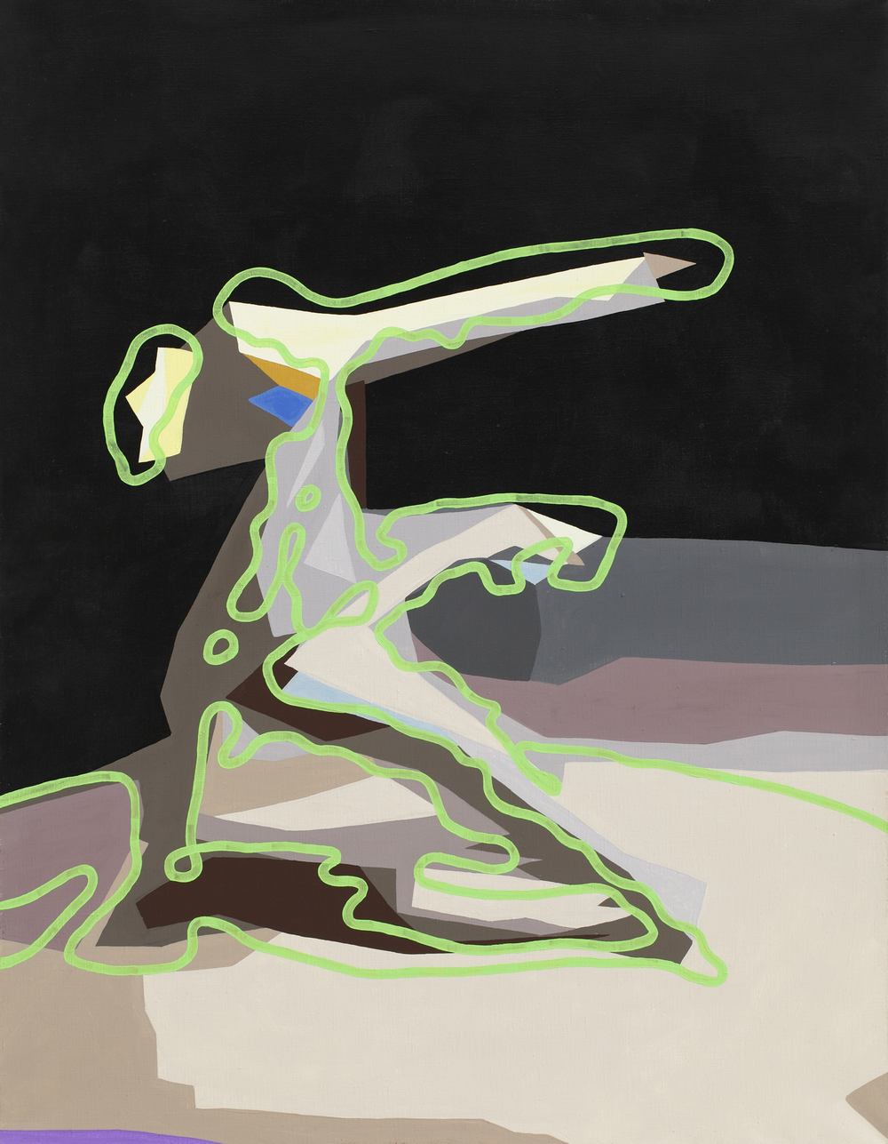 Sixstep, 2004, acrylic on canvas, 125 x 105 cm