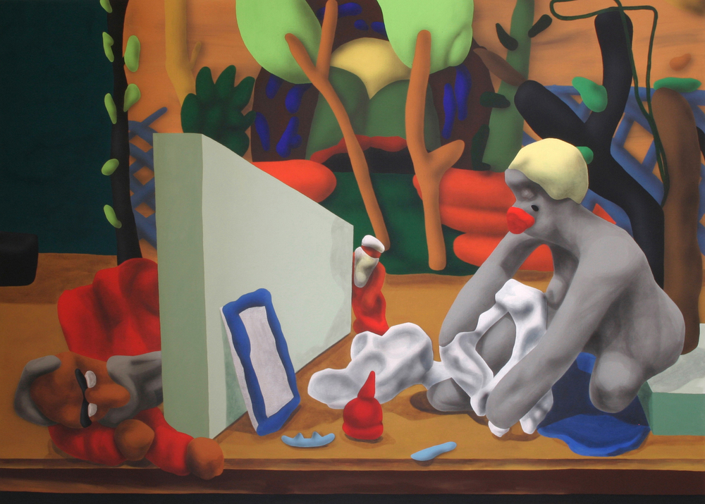 Susan and Her Elders, 2005, acrylic on canvas, 145 x 200 cm
