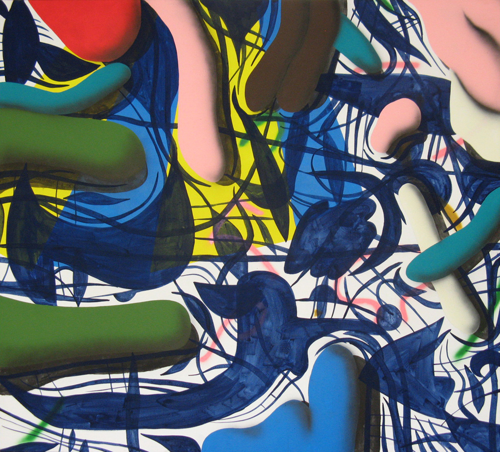 Set IV., 2007, acrylic, spray on canvas, 190 x 190 cm