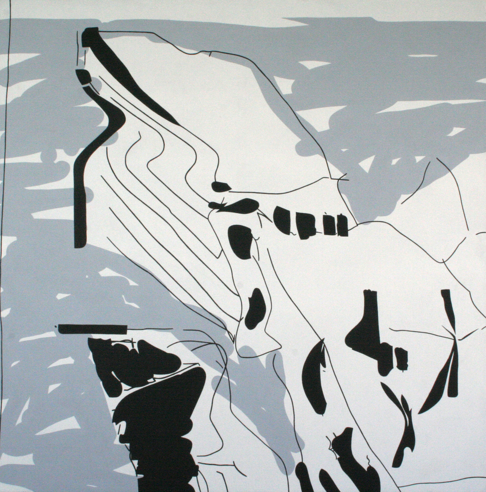 Architecture I. 2005, acrylic on canvas, 140 x 140 cm