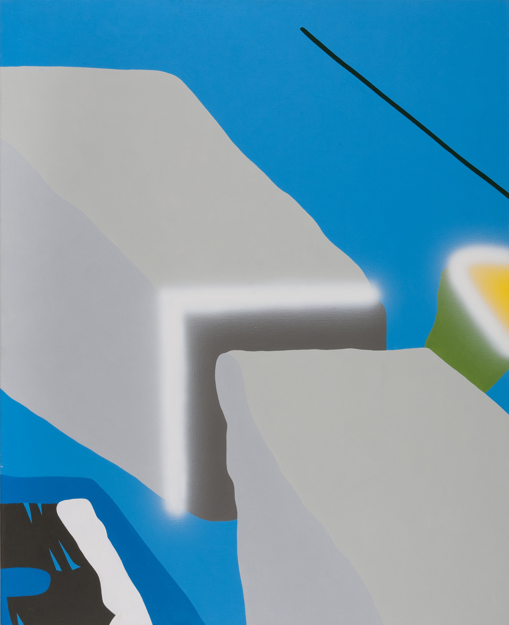 Architecture VI. 2005, acrylic on canvas, 160 x 130 cm