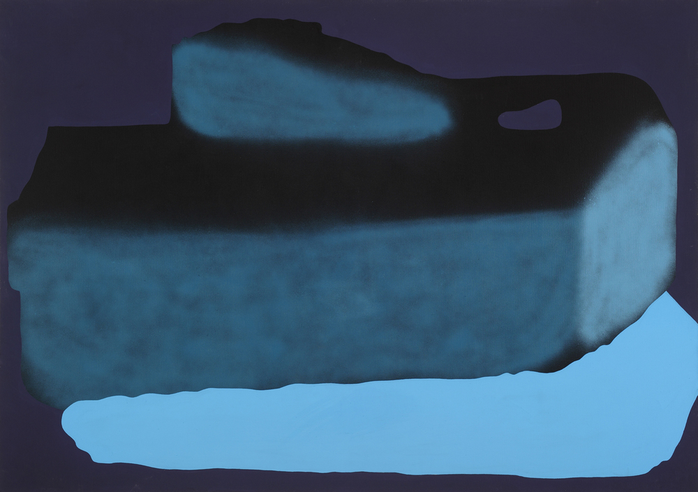 Ship I. 2006, acrylic, spray on canvas, 120 x 170 cm