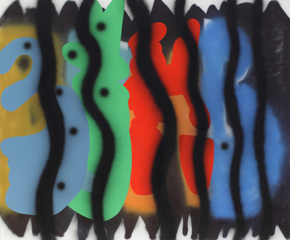 Bimb, 2007, acrylic, spray on canvas, 170 x 200 cm
