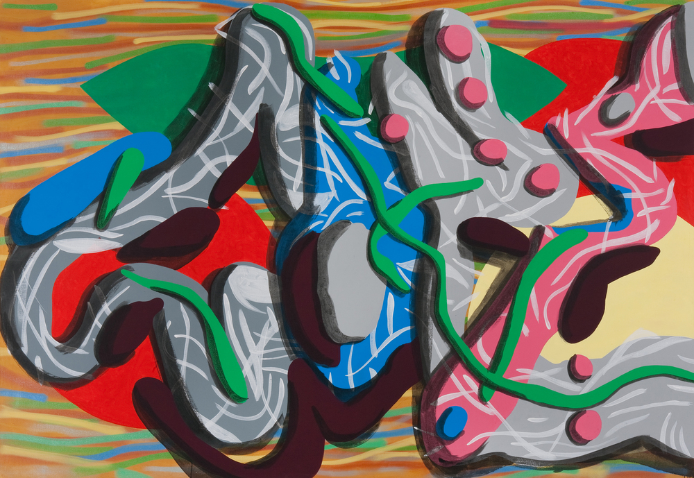 Cope, 2008, acrylic, spray on canvas, 200 x 260 cm
