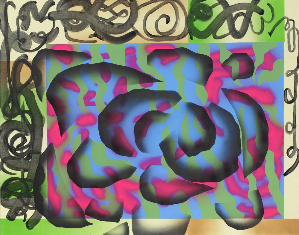 Africa bambaataa, 2009, acrylic, spray on canvas, 180 x 200 cm