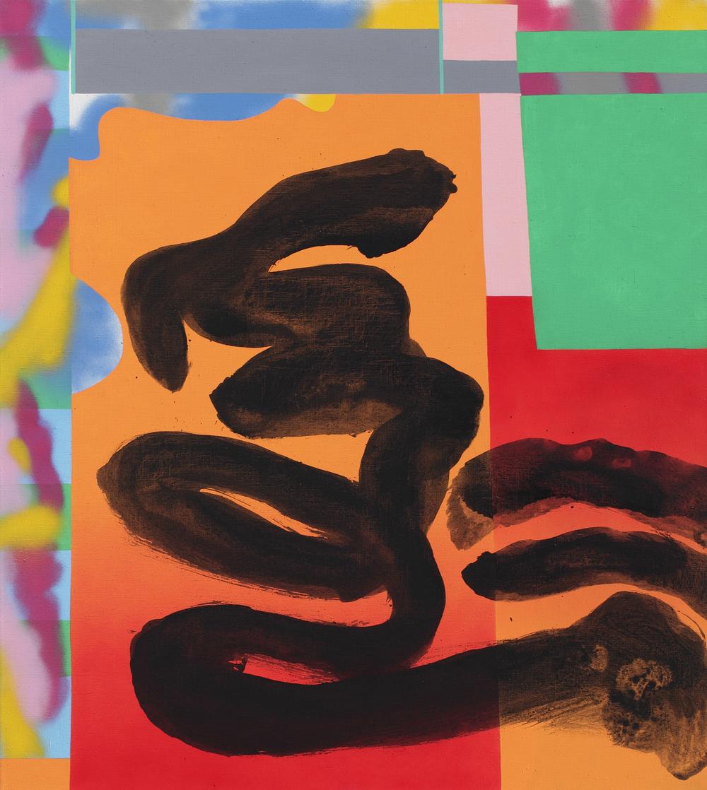 Hikuli Mulato, 2009, acrylic, spray on canvas, 135 x 120 cm