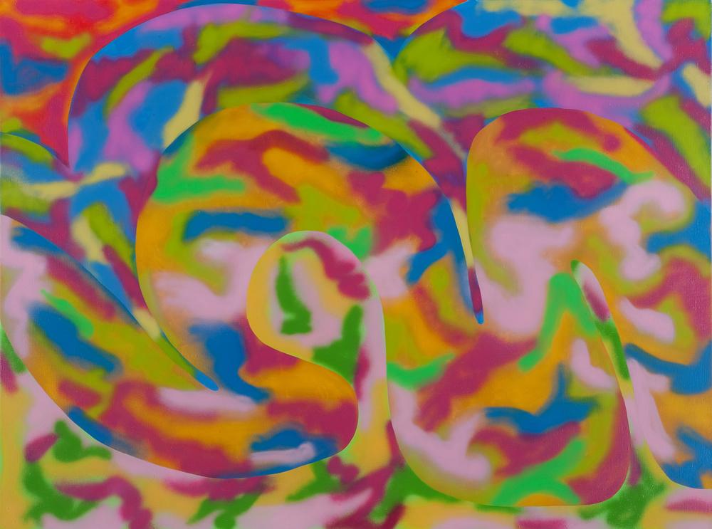 JeJou, 2009, spray on canvas, 140 x 190 cm