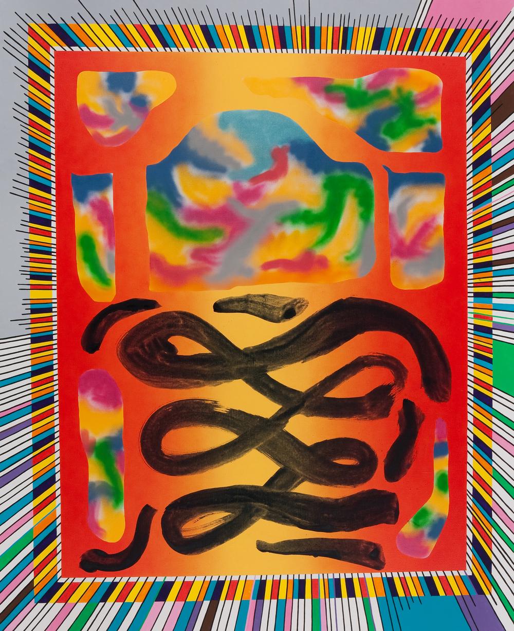 Speed Of Light, 2009, acrylic, spray on canvas, 240 x 190 cm