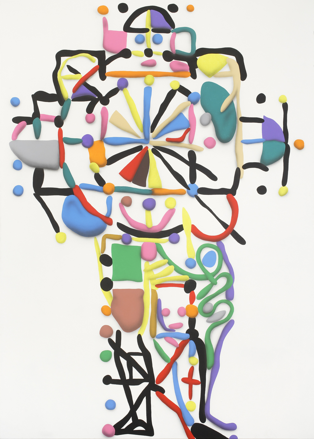 Man And The Cross, 2010, acrylic on canvas, 260 x 185 cm