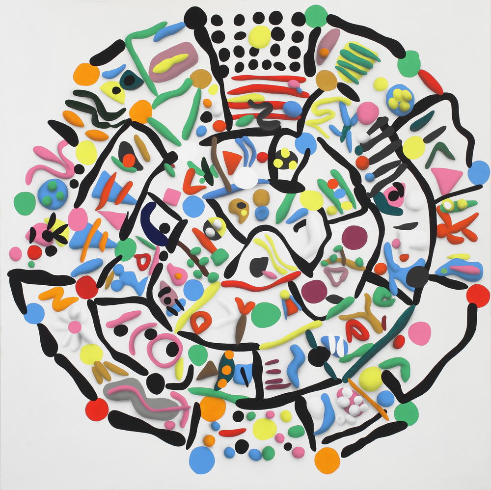 Disk of Faist, side A, 2010, acrylic on canvas, 210 x 210 cm