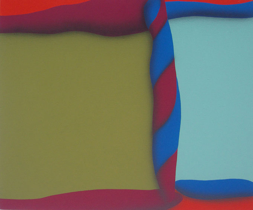 Touches Of Surface And Volume Forms I. 2010, acrylic on canvas, 70 x 85 cm