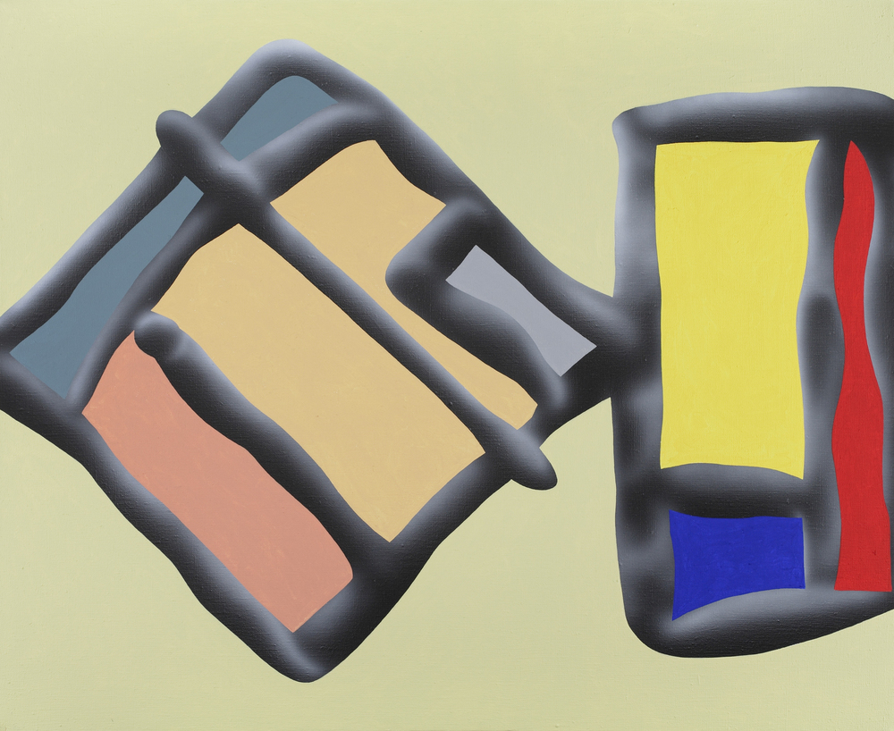 Touches Of Surface And Volume Forms VII. 2010, acrylic on canvas, 70 x 85 cm