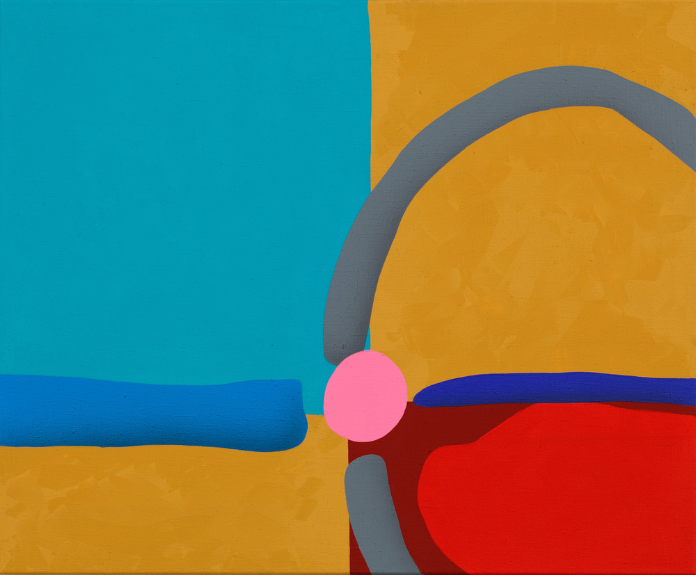 Touches Of Surface And Volume Forms XII. 2011, acrylic on canvas, 70 x 85 cm