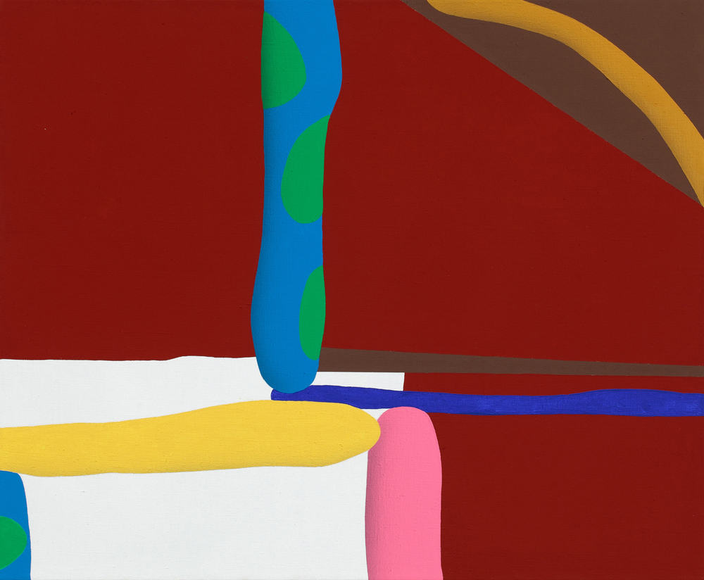 Touches Of Surface And Volume Forms XIV. 2011, acrylic on canvas, 70 x 85 cm
