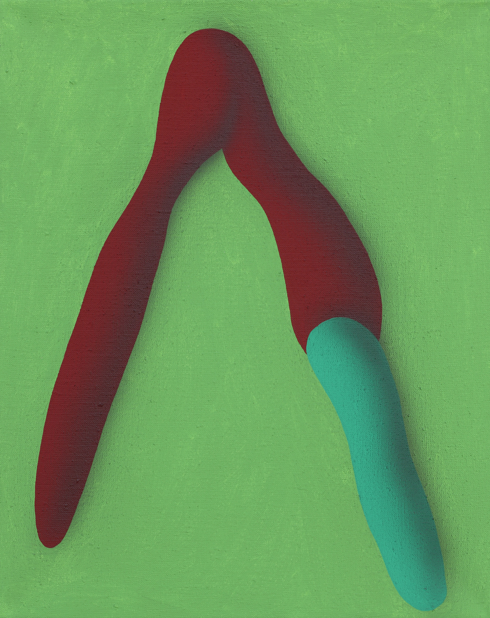 Elementary touching lines II. 2010, acrylic on canvas, 50 x 40 cm