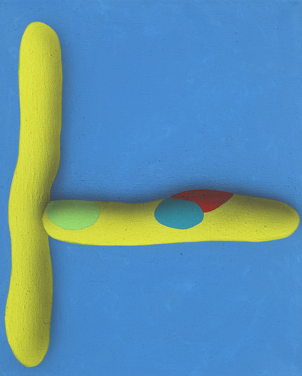 Elementary touching lines VIII. 2010, acrylic on canvas, 50 x 40 cm