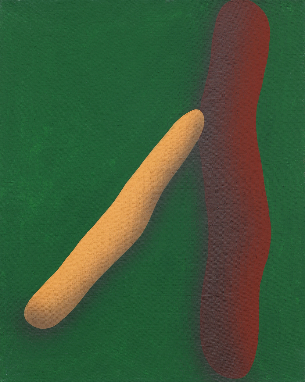Elementary touching lines XII. 2010, acrylic on canvas, 50 x 40 cm