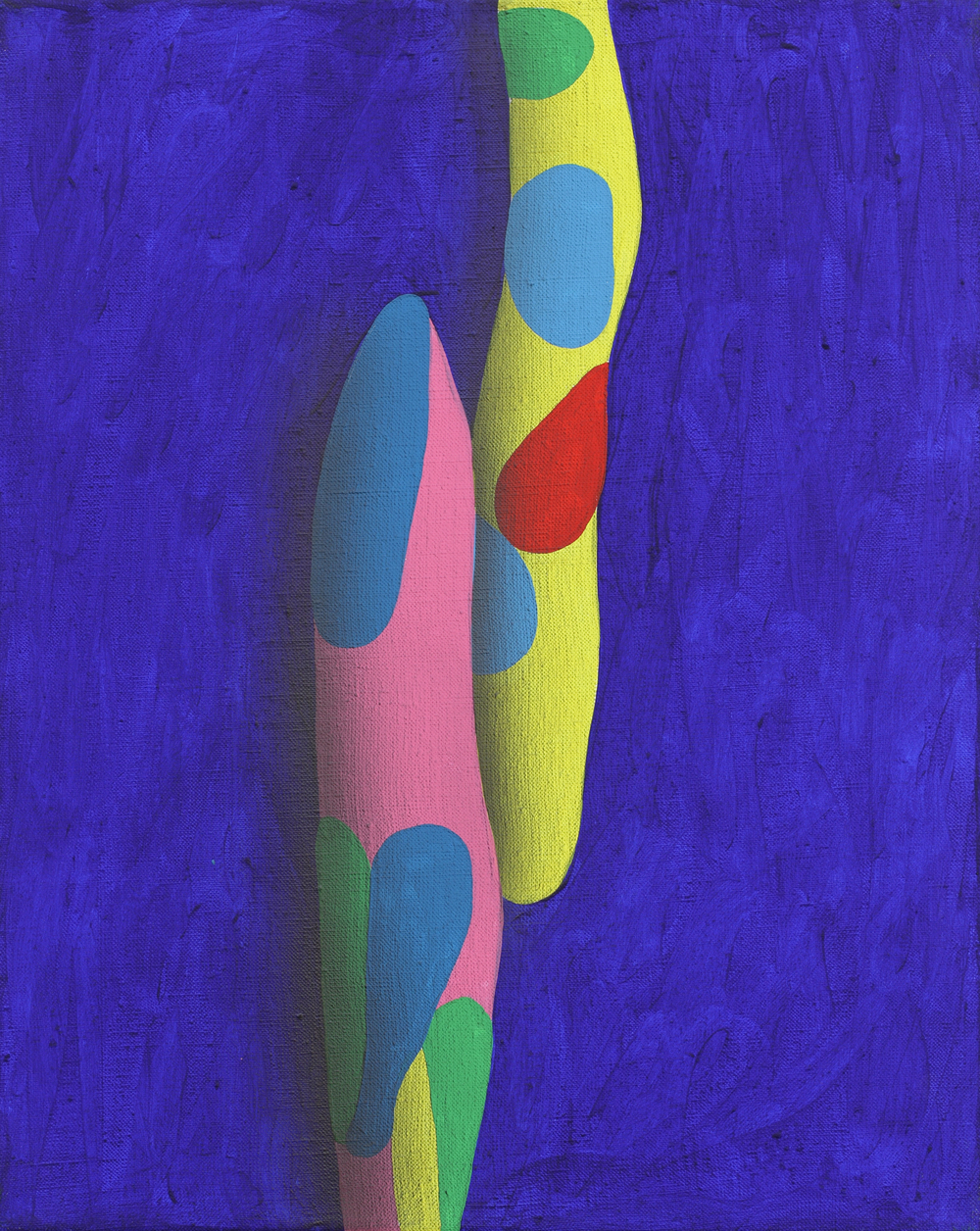 Elementary touching lines XI. 2010, acrylic on canvas, 50 x 40 cm