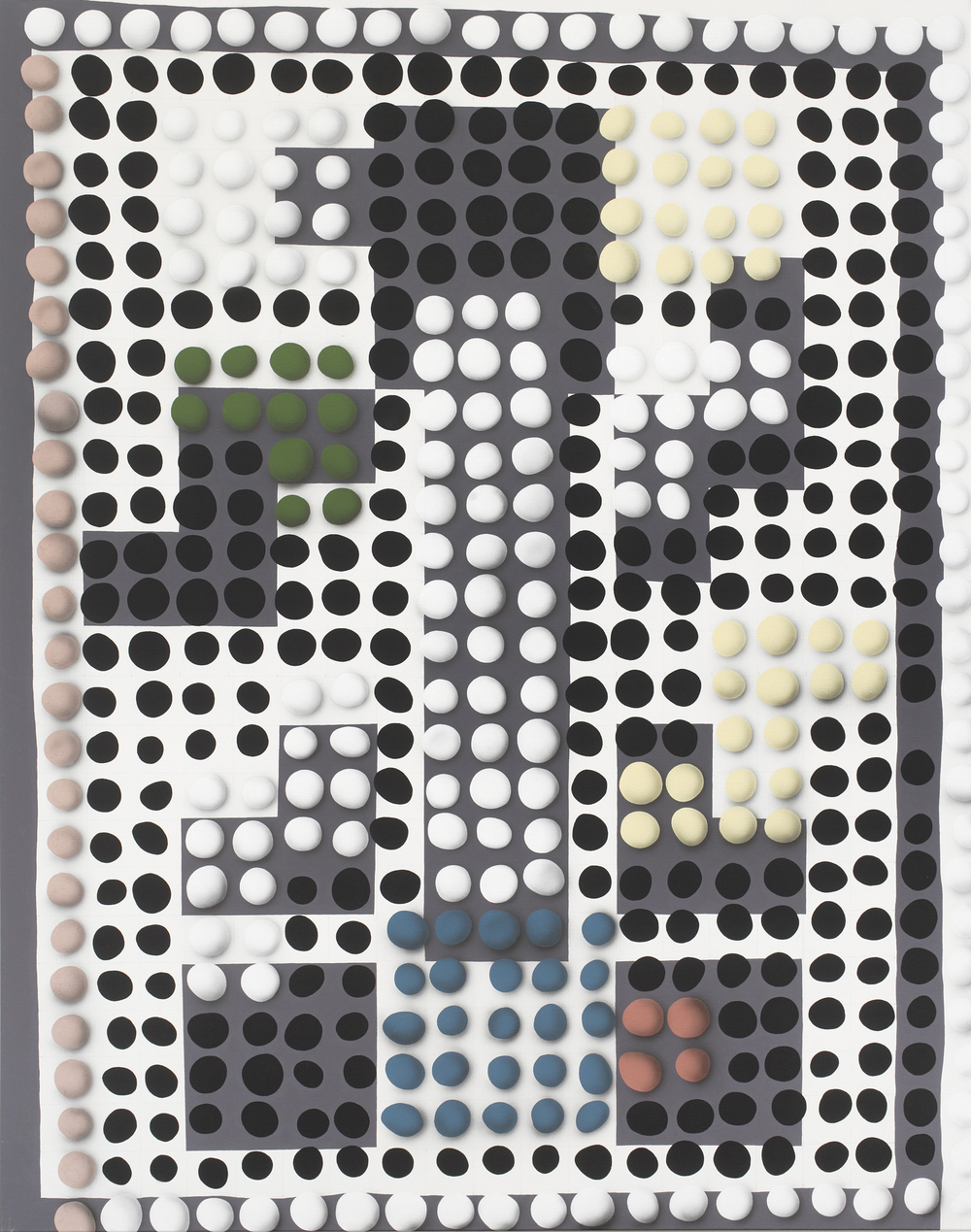 Vasarely, 2010, acrylic on canvas, 240 x 190 cm