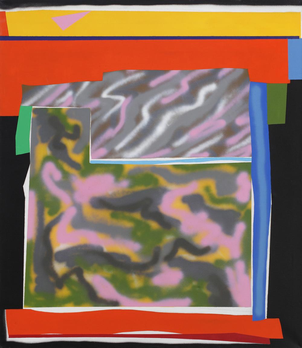 Tomb I. 2010, acrylic, spray on canvas, 150 x 130 cm