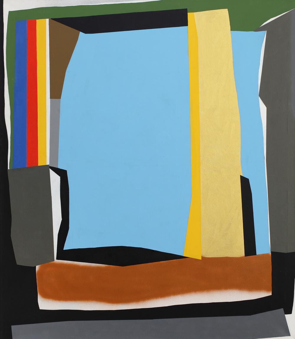 Tomb IV. 2010, acrylic, spray on canvas, 150 x 130 cm