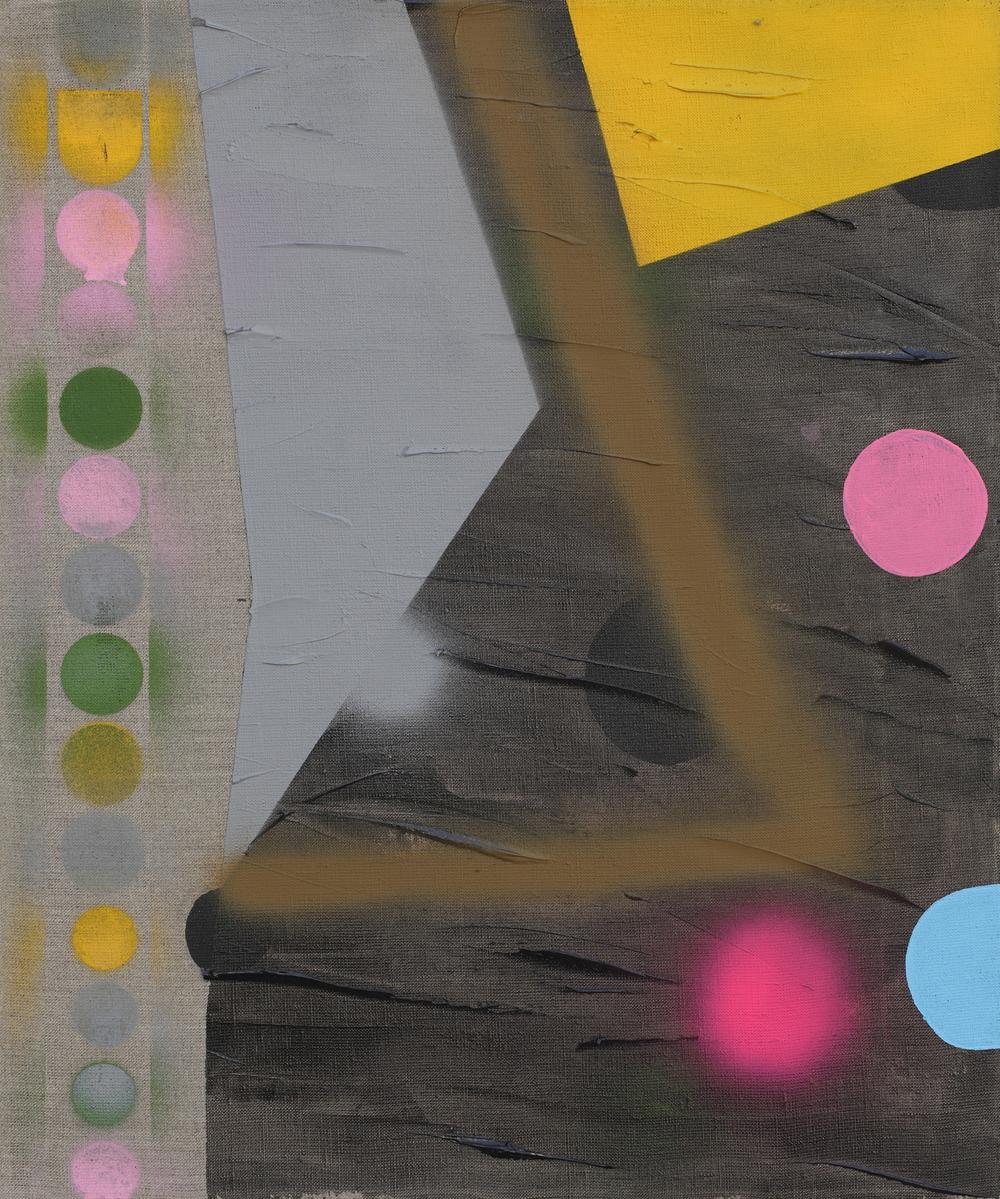 Tomb V. 2010, acrylic, spray on canvas, 60 x 50 cm