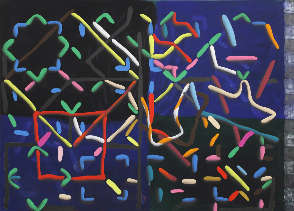 Net II. 2011, acrylic on canvas, 190 x 260 cm
