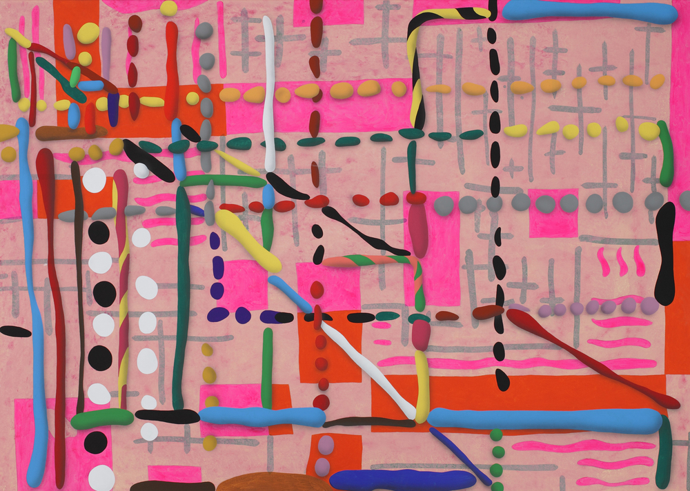 Net, 2011, acrylic on canvas, 190 x 260 cm