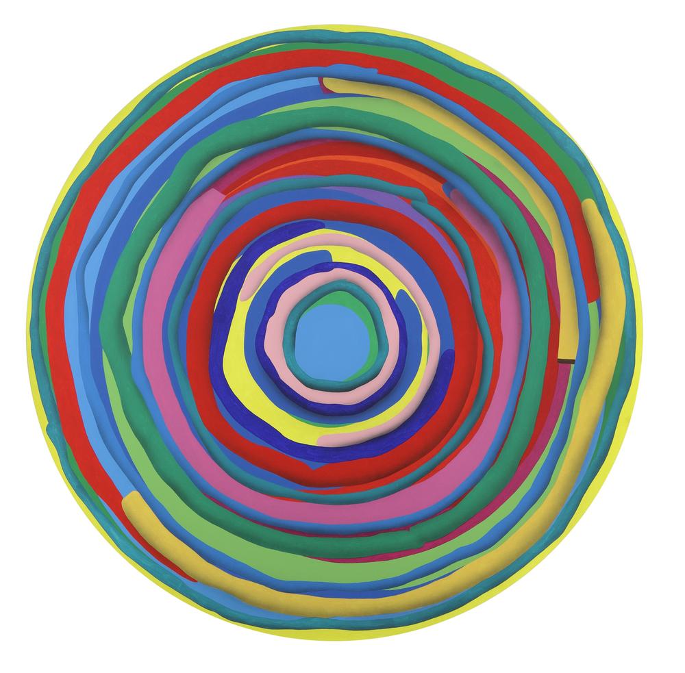 Mandala No. 1 /Target I./ 2011, acrylic on canvas, 200 x 200 cm