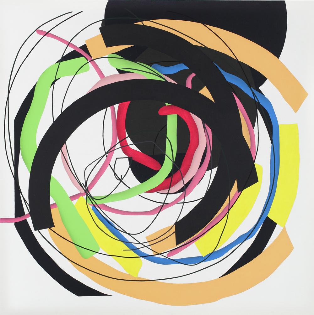 Mandala No. 11 /Dynamic/ 2011, acrylic on canvas, 200 x 200 cm