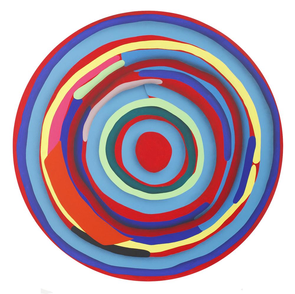 Mandala No. 15 /Target III./ 2012, acrylic on canvas, 150 x 150 cm