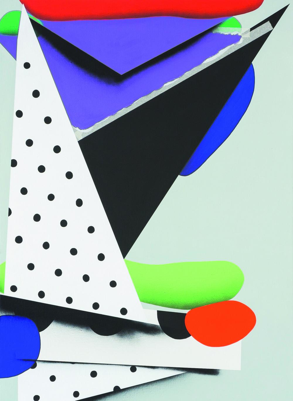 Neomondrian,Strihanky-Plastika c.3,2012,110x80, akryl, sprej na platne.jpg