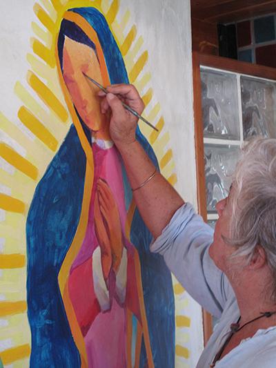 WORLD ARTIST  TAGS ~  DESPERADO BAÑO WALL            -RŌBERT (1948-)