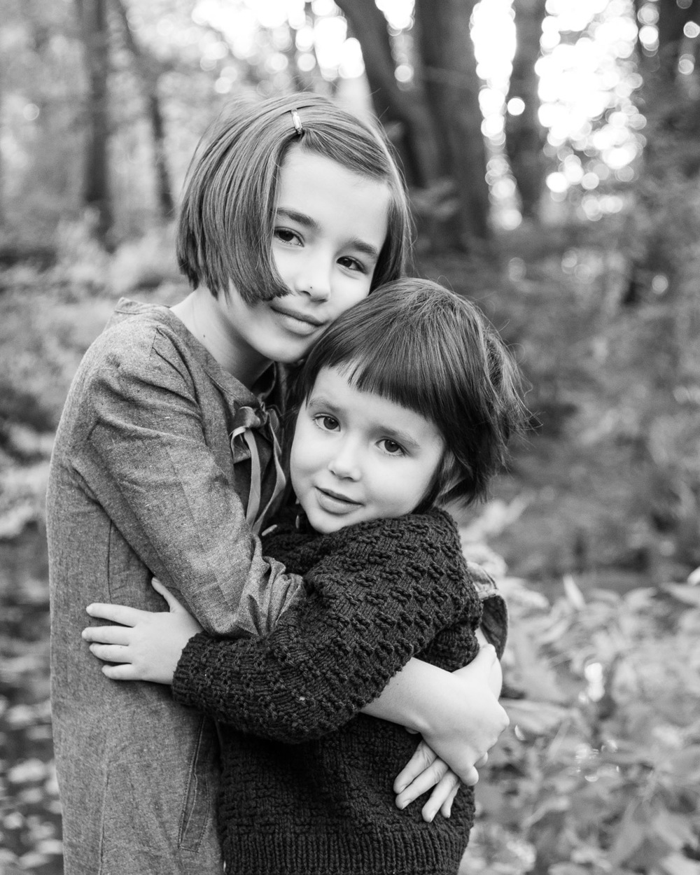 Children's portrait photography - B&W