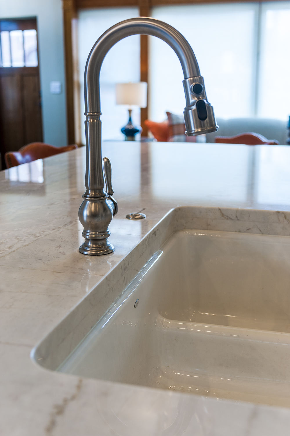 Blue Pearl Stone Dolce Vita Quartzite Island Sink Laminated Dupont Edge