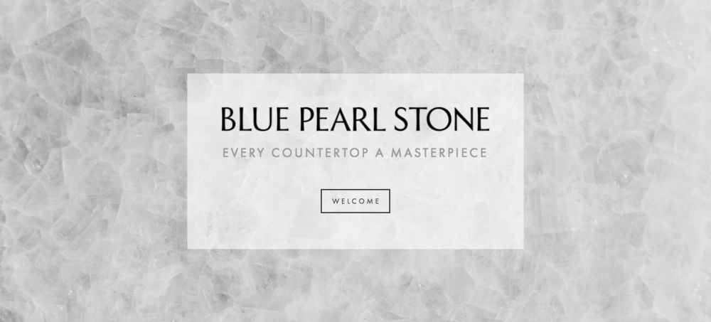 Blue Pearl Stone Welcome Page