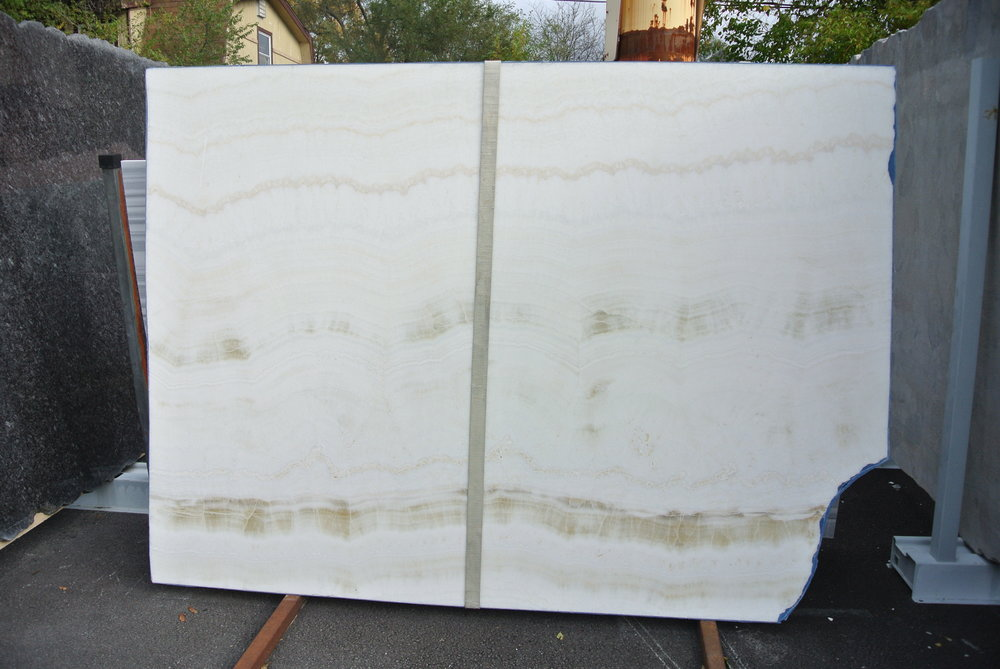 White Honey Onyx, Polished 2cm