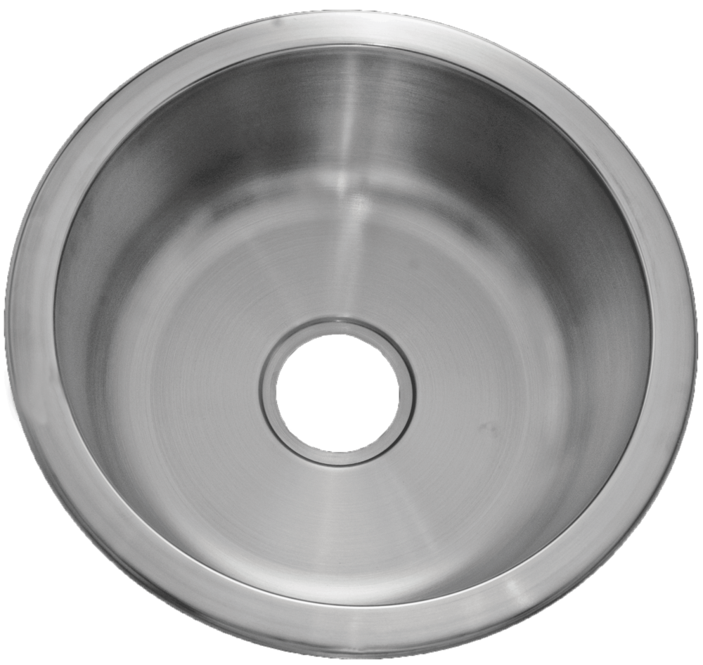 Patriot U201cHawaiianu201d 18 Gauge Stainless Steel Undermount Round Small Single  Bowl Sink U2013 ADA Compliant
