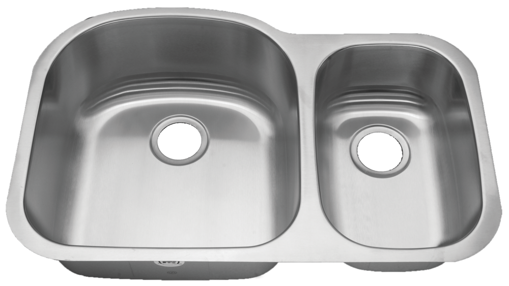 Royalty Duchess   18 Gauge Stainless Steel 70/30 Double Bowl Sink