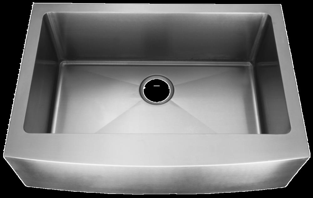 Homeplace Lufkin (Zero Edge Or Radial) 15 Gauge Stainless Steel Single Bowl  Apron Sink U2014 Blue Pearl Stone